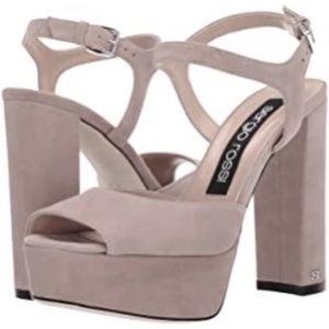 Sergio Rossi SR Monica 090 Tan Ankle Strap Sandals